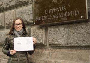 Dr. Aušrinei Jurkevičiūtei – LMA pagyrimo raštas